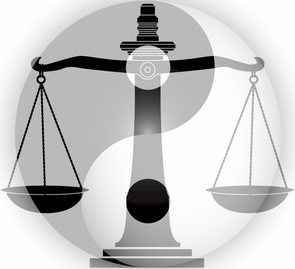 Yin Yang Scale of Justice