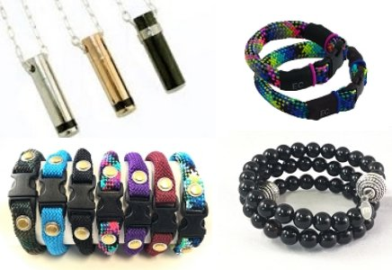 EMF Protection EarthCalm Pendants & Bracelets