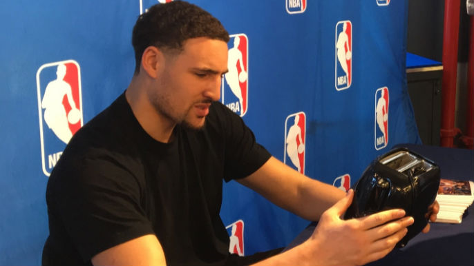 Klay Thompson with Toaster
