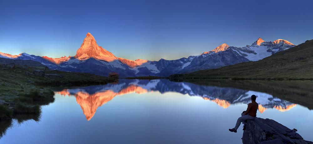 Matterhorn Mountain Lake Reflection
