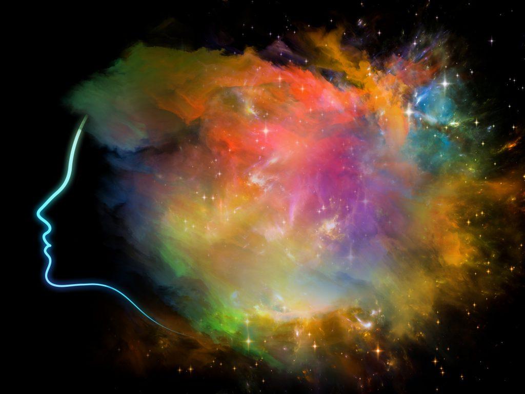 nebula human face outline