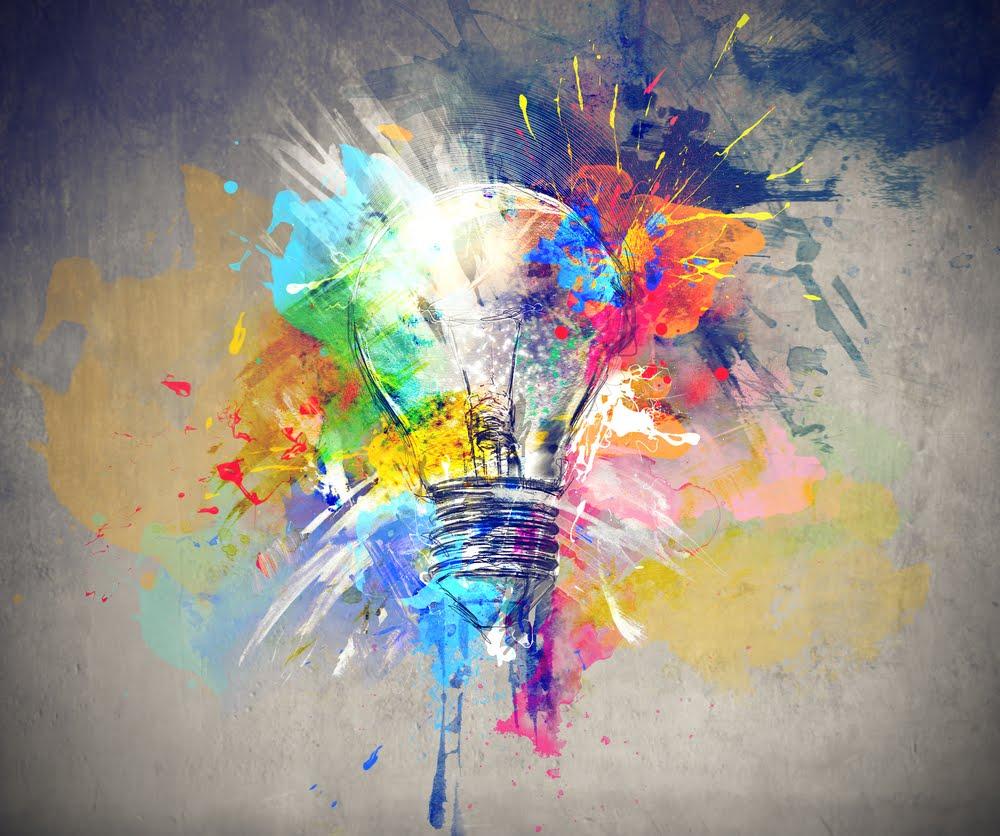 light bulb rainbow colors