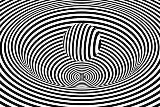 optical illusion zebra stripes