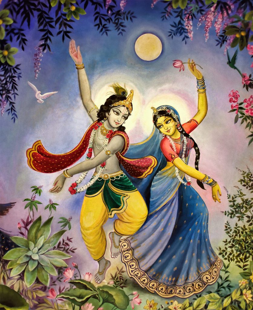 Krishna Radha dancing