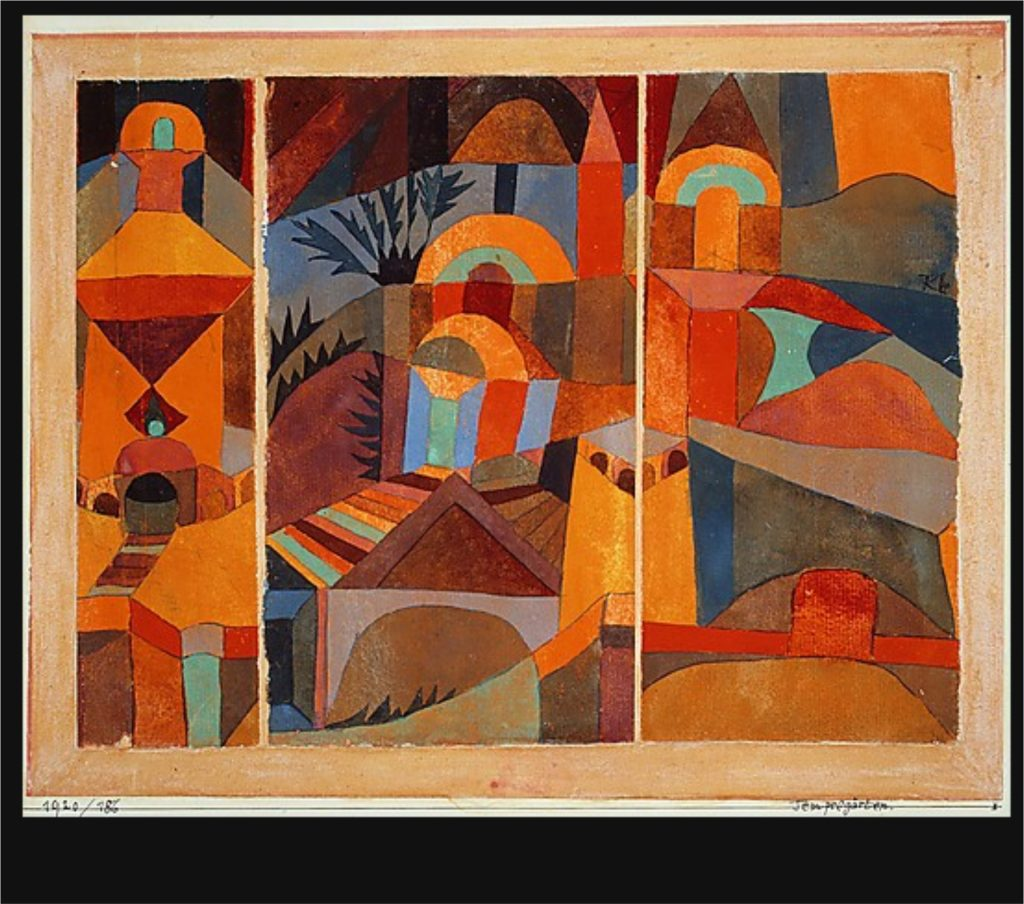 Paul Klee painting, Temple Gardens