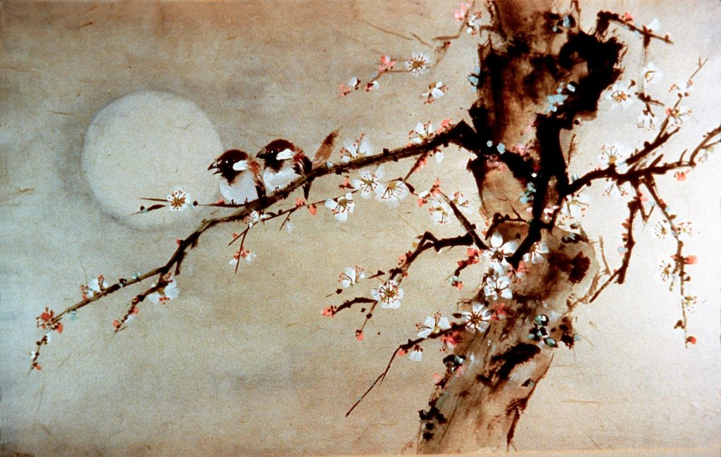 Birds & Moonlight Painting