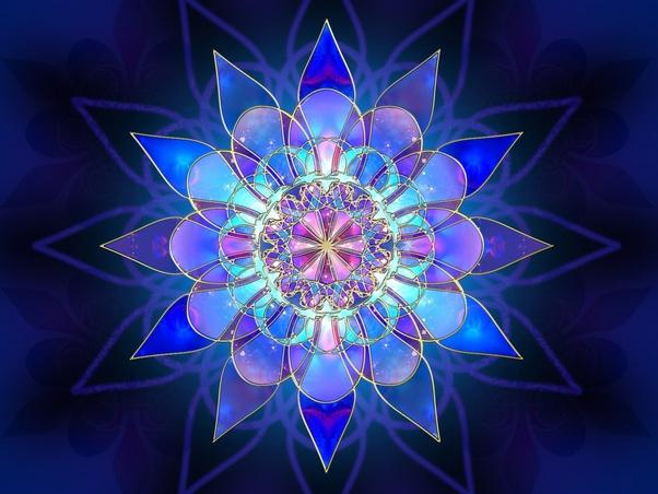 Fractal blue flower