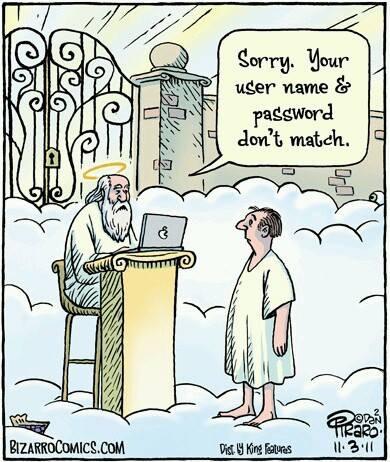 Saint Peter pearly gates cartoon