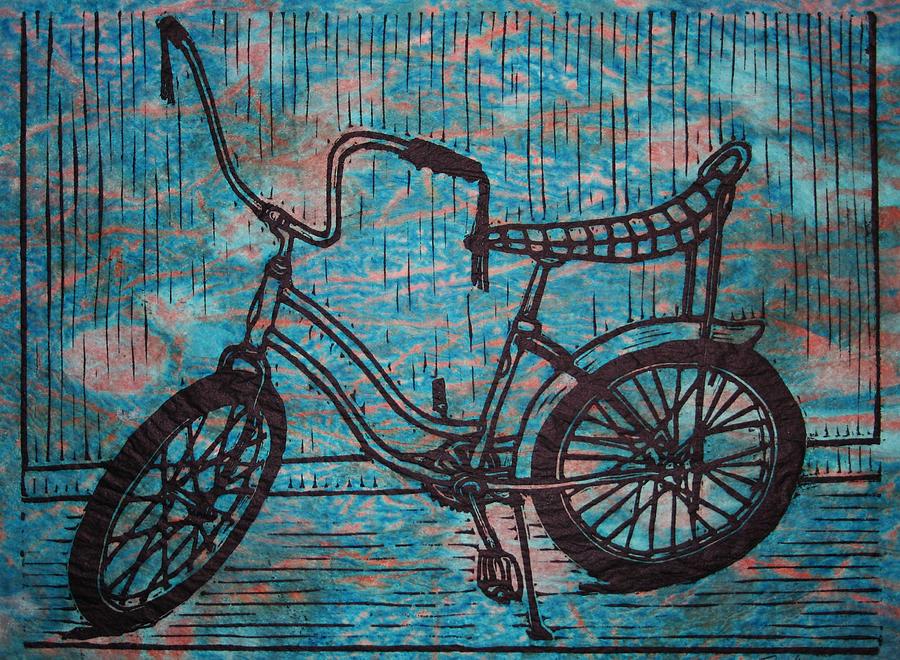 banana seat bike blue