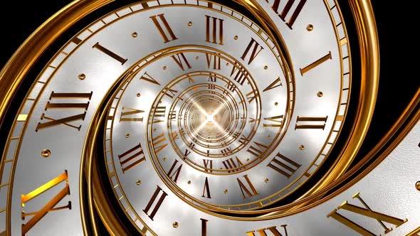 clock spiral gold