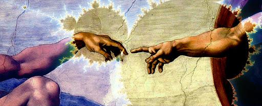 Michelangelo painting Mandelbrot set