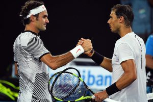 Federer Nadal shaking hands